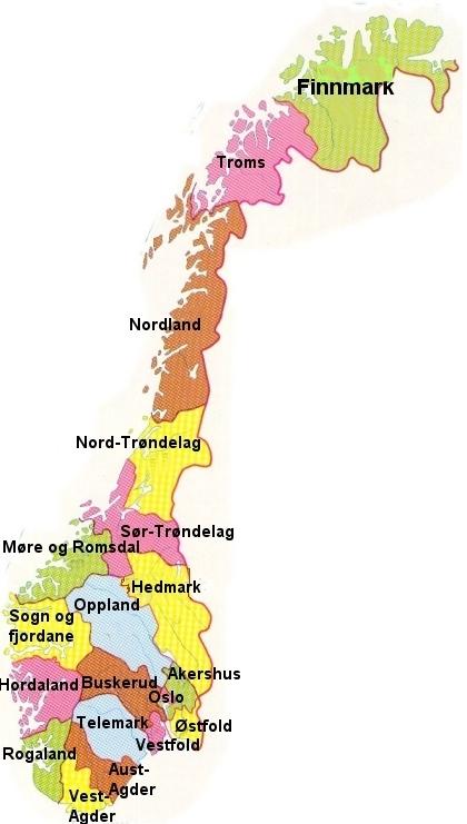 kart norge med fylker 1. Dette er Norge kart norge med fylker