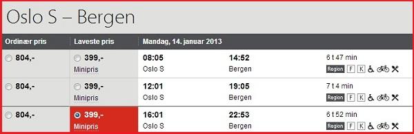Rutetabell NSB Oslo S - Bergen.jpg
